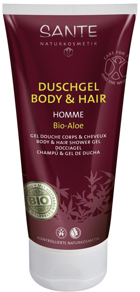 Sante Homme Мужской шампунь-гель для волос и тела, 200 мл42384100% натуральный шампунь-гель для волос и тела разработан с учетом особенностей кожи и волос у мужчин. Моющие ингредиенты исключительно растительного происхождения обеспечивают мягкое, но эффективное очищение. Сок алоэ интенсивно увлажняет кожу тела и головы. Экстракты березы, гамамелиса, ромашки препятствуют образованию перхоти и восстанавливают структуру волос.