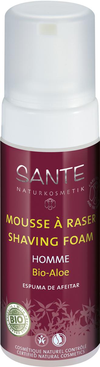Sante Homme пена для бритья, 150 мл42580100% натуральная питательная пена разработана специально для легкого бритья. Высокоэффективный фитокомплекс на основе масел жожоба и миндаля, экстрактов ромашки и гамамелиса, а также сока алоэ успокаивают и питают кожу.