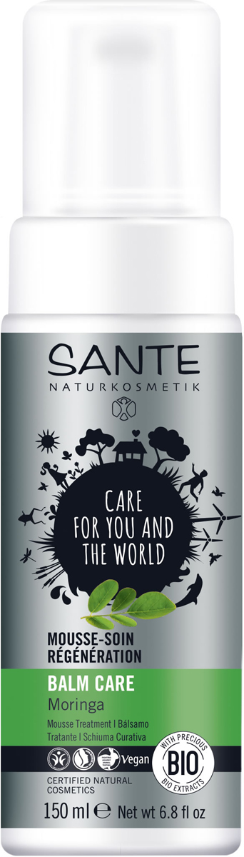 Sante Восстанавливающая маска для волос с Морингой, 150 мл44564Восстанавливает и защищает поврежденные, осветленные волосы и локоны после химической завивки. Пшеничный белок и экстракт моринги придают естественный блеск и восстанавливают структуру волос.