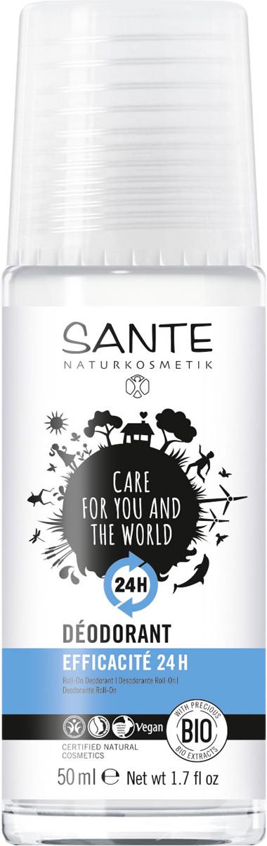 Sante Дезодорант шариковый 24 часа, 50 мл44551Свежесть и защита 24 часа! Дезодорант SANTE обеспечивает длительную защиту от неприятного запаха. Эффективный комплекс активных веществ с био-экстрактом из листьев шалфея, био-маслом макадамии и био-экстрактом щавеля надежно защищает в течение 24 часов и дарит приятное ощущение свежести.