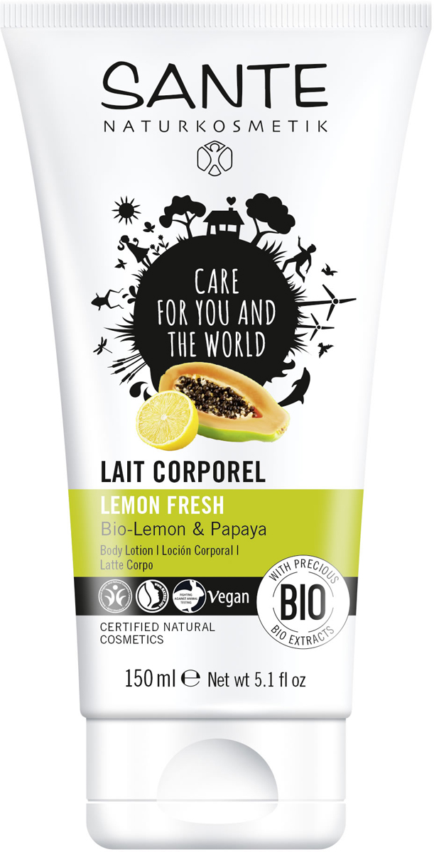 Sante Лосьон для тела Свежесть Лимона, 150 мл44548Балует кожу полезной вытяжкой из био-лимона и био-папайи, делая ее мягкой и бархатистой.
