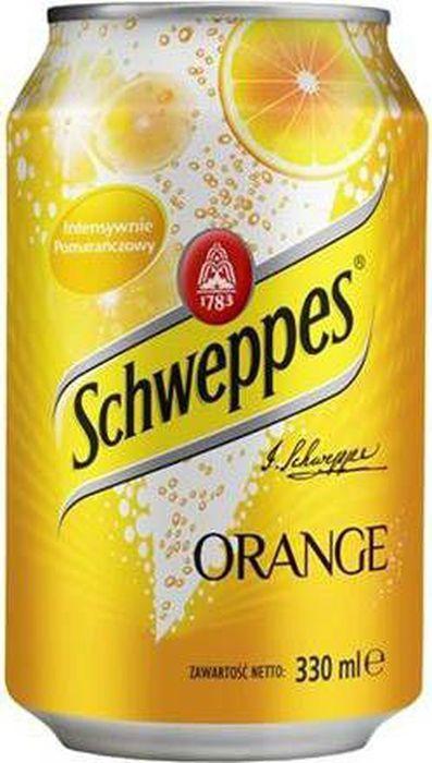 Schweppes Orange напиток сильногазированный, 330 мл schweppes bitter lemon напиток сильногазированный 330 мл