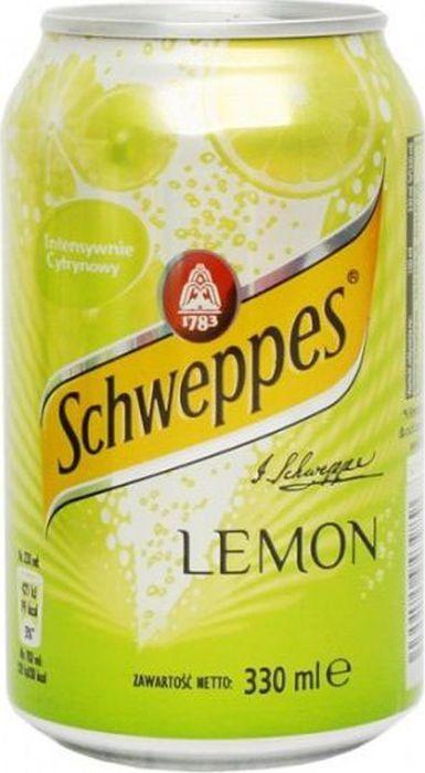Schweppes Lemon напиток сильногазированный, 330 мл schweppes bitter lemon напиток газированный 0 2 л