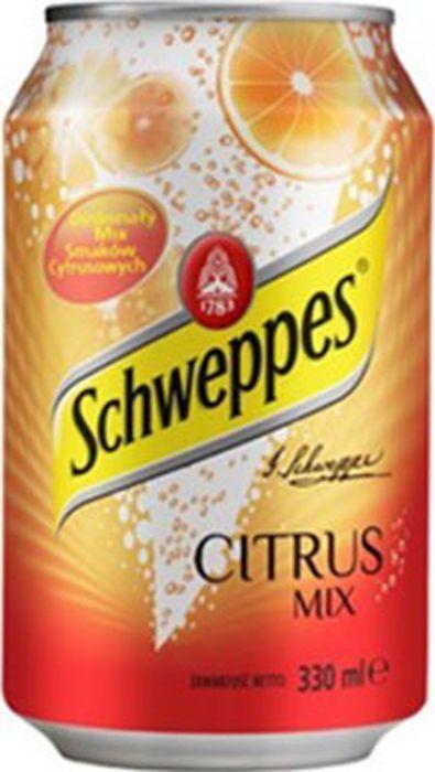 Schweppes Citrus Mix напиток сильногазированный, 330 мл schweppes bitter lemon напиток газированный 0 2 л