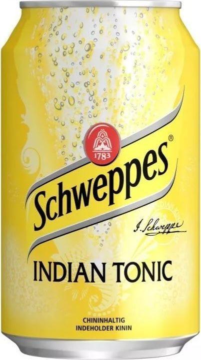 Schweppes Indian Tonic напиток сильногазированный, 330 мл schweppes bitter lemon напиток газированный 0 2 л