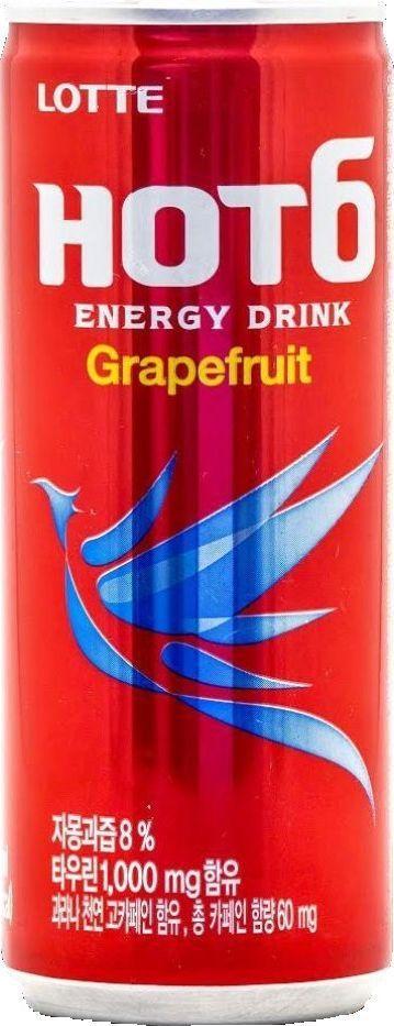 Lotte Тонизирующий напиток Hot6ix Грейпфрут, 250 мл напиток mychoice nutrition my fitness l carnitine 2700 shot клубника 9 x 60 мл