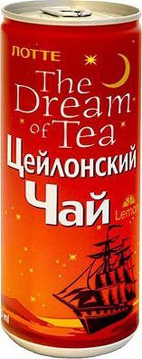 Lotte Цейлонский чай с лимоном, 240 мл чай ассорти 15 плитка черного чая 1шт 99гр т сп 15
