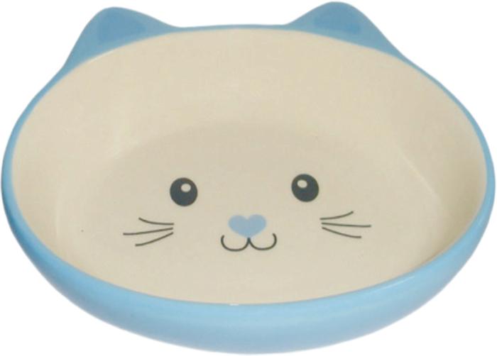 Миска для животных №1, цвет: голубой, 14 х 12,5 х 3,5 смМКР863Керамическая миска для кошек. Проста в использовании, гигиенична и долговечна. Антибактериальные свойства. Не впитывает жир и запах. Нетоксична. Рассчитана на длительное активное использование.
