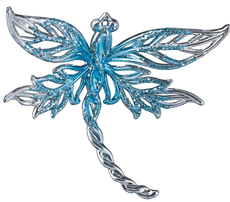 Украшение для интерьера новогоднее Erich Krause Стрекозка, цвет: голубой, длина 12 см38065_голубой_ вид1Украшение для интерьера новогоднее Erich Krause Стрекозка, цвет: голубой, 12 см