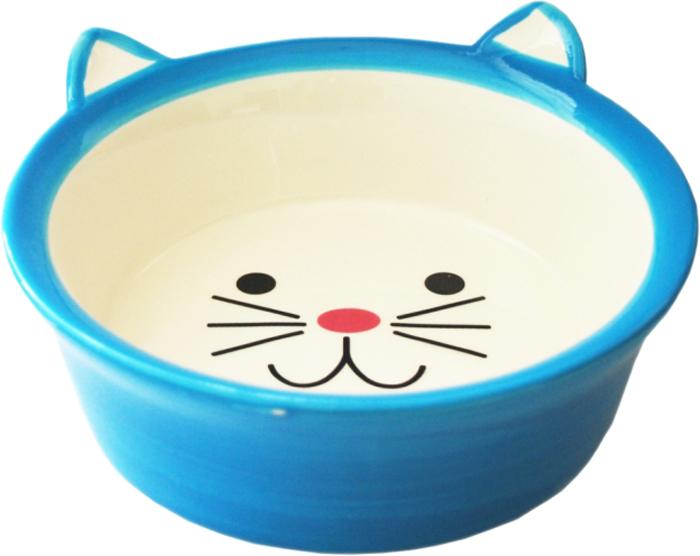 Миска для животных №1, цвет: голубой, 250 млМКР4014-3Керамическая миска для кошек. Проста в использовании, гигиенична и долговечна. Антибактериальные свойства. Не впитывает жир и запах. Нетоксична. Рассчитана на длительное активное использование.
