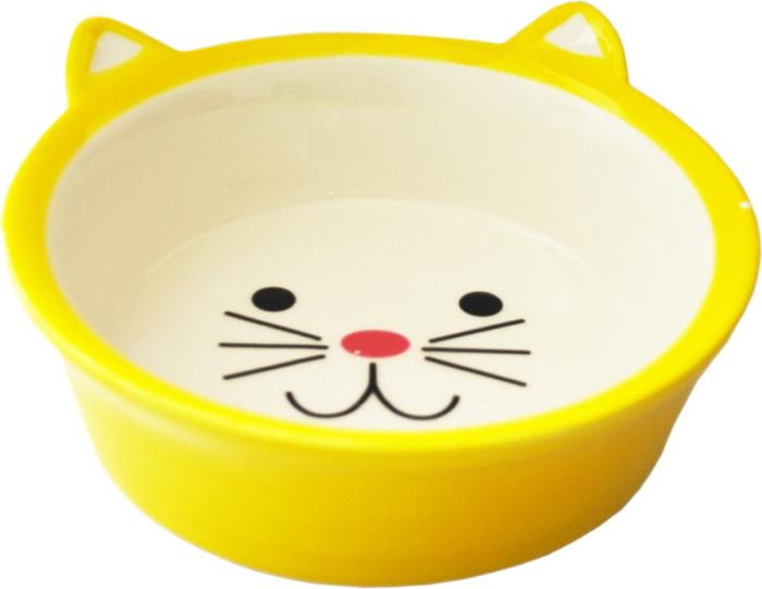 Миска для животных №1, цвет: желтый, 250 млМКР4014-2Керамическая миска для кошек. Проста в использовании, гигиенична и долговечна. Антибактериальные свойства. Не впитывает жир и запах. Нетоксична. Рассчитана на длительное активное использование.