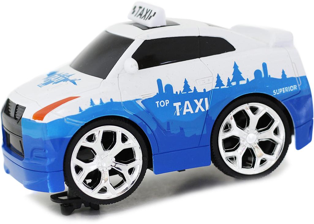 Taiko Zoom Машина на радиоуправлении Такси цвет бело-голубой машины taiko zoom строительная техника кран радиоуправляемый