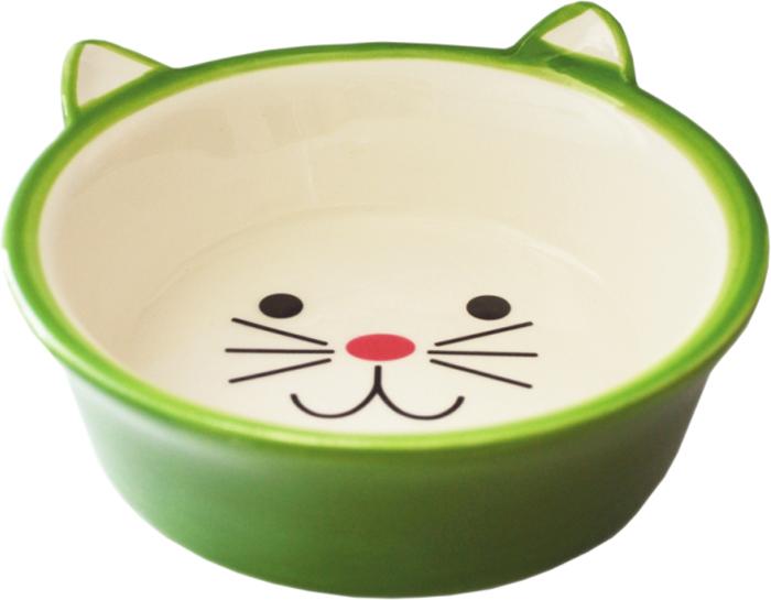 Миска для животных №1, цвет: зеленый, 250 млМКР4014-4Керамическая миска для кошек. Проста в использовании, гигиенична и долговечна. Антибактериальные свойства. Не впитывает жир и запах. Нетоксична. Рассчитана на длительное активное использование.