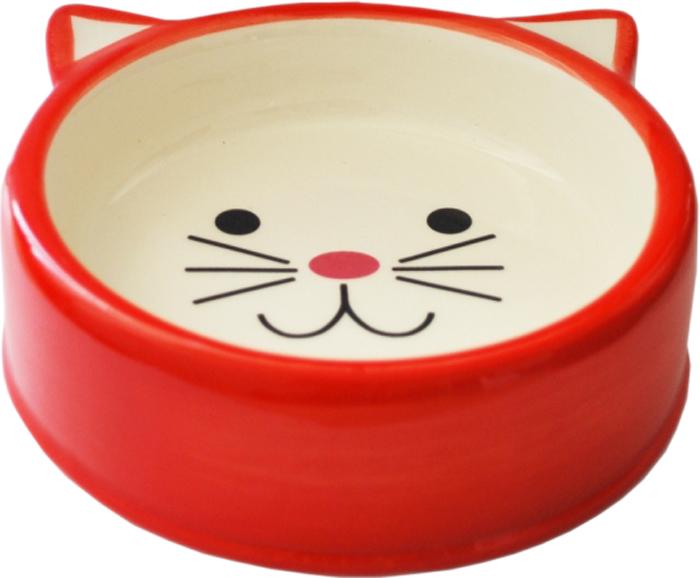Миска для животных №1, цвет: красный, 120 млМКР4015-4Керамическая миска для кошек. Проста в использовании, гигиенична и долговечна. Антибактериальные свойства. Не впитывает жир и запах. Нетоксична. Рассчитана на длительное активное использование.