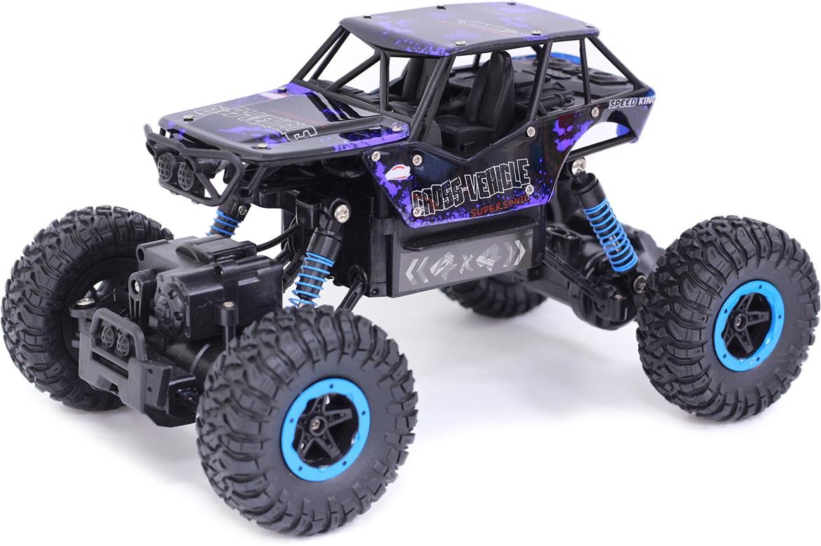 Taiko StreetZone Джип-внедорожник на радиоуправлении с синими элементами цвет черный 0703