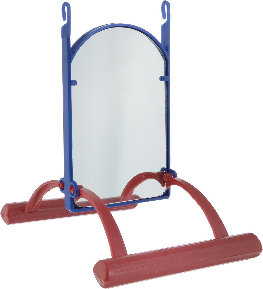 Зеркало для попугая Trixie, цвет: синий, красный, вид 1, 13 см