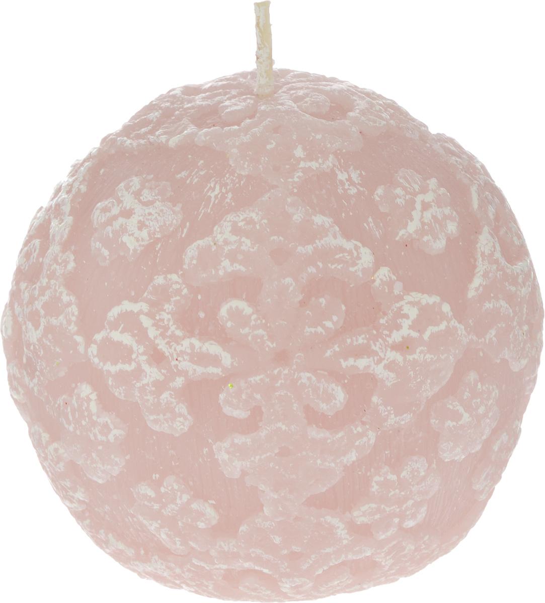 Свеча-шар B&H Цветочное кружево, цвет: розовый, диаметр 7,5 смBH1043_розовыйСвеча-шар Цветочное кружево изготовлена из парафина и декорирована изящным узором. Такая свеча станет изысканным украшением интерьера. Она принесет в ваш дом волшебство и ощущение праздника. Создайте в своем доме атмосферу веселья и радости, и тогда самый обычный день с легкостью превратится в торжество.