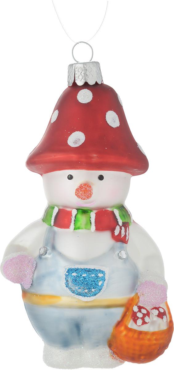Украшение декоративное Winter Wings Снеговичок-лесовичок, цвет: голубой, красный, высота 10 смN07619_голубой, красныйНовогоднее подвесное украшение Winter Wings Снеговичок-лесовичок выполнено из стекла. С помощью специальной петельки украшение можно повесить в любом понравившемся вам месте. Но, конечно, удачнее всего оно будет смотреться на праздничной елке.Елочная игрушка - символ Нового года. Она несет в себе волшебство и красоту праздника. Создайте в своем доме атмосферу веселья и радости, украшая новогоднюю елку нарядными игрушками, которые будут из года в год накапливать теплоту воспоминаний.Размер: 5 х 4 х 10 см.
