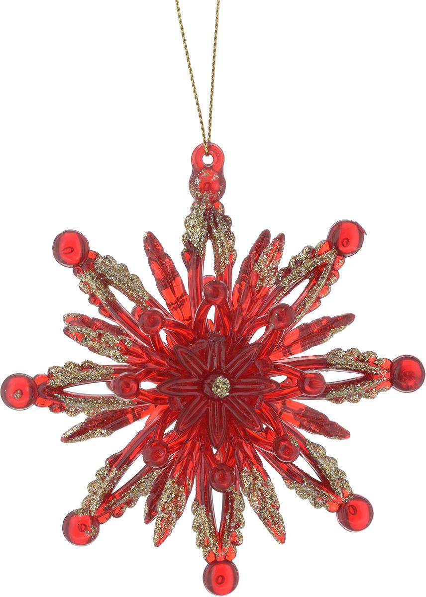 Новогоднее украшение для интерьера Erich Krause Искры света, диаметр 10,5 см36037_красный_вид 2Украшение, выполненное в красном и золотом цвете, отличается необычной двусторонней формой. Благодаря этому лучики украшения сверкают со всех сторон. Новогодние украшения всегда несут в себе волшебство и красоту праздника. Создайте в своем доме атмосферу тепла, веселья и радости, украшая его всей семьей.
