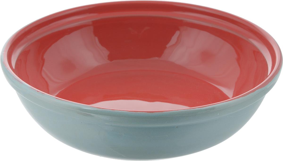 Салатник Борисовская керамика Модерн, цвет: мятный, красный, 1 лРАД00000830_мятный, красныйСалатник Борисовская керамика Модерн выполнен из высококачественной глазурованной керамики. Этот вместительный салатник придется по вкусу любителям здоровой и полезной пищи. Благодаря современной удобной форме, изделие многофункционально и может использоваться хозяйками на кухне как в виде салатника, так и для запекания продуктов, с последующим хранением в нем приготовленной пищи. Посуда термостойкая. Можно использовать в духовке и микроволновой печи.Диаметр (по верхнему краю): 21 см.Высота стенки: 6 см.
