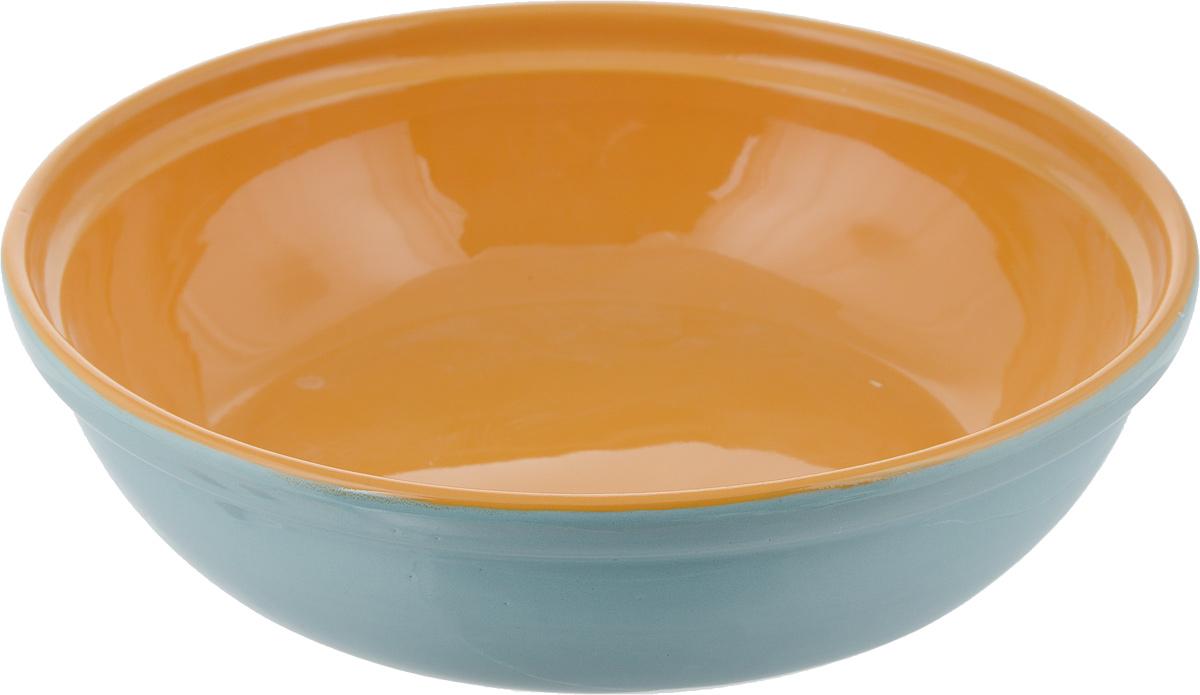 """Салатник Борисовская керамика """"Модерн"""" выполнен из высококачественной глазурованной  керамики. Этот вместительный салатник придется по вкусу любителям здоровой и полезной  пищи. Благодаря современной удобной форме, изделие многофункционально и может  использоваться хозяйками на кухне как в виде салатника, так и для запекания продуктов, с  последующим хранением в нем приготовленной пищи.   Посуда термостойкая. Можно использовать в духовке и микроволновой печи.    Диаметр (по верхнему краю): 21 см. Высота стенки: 6 см."""