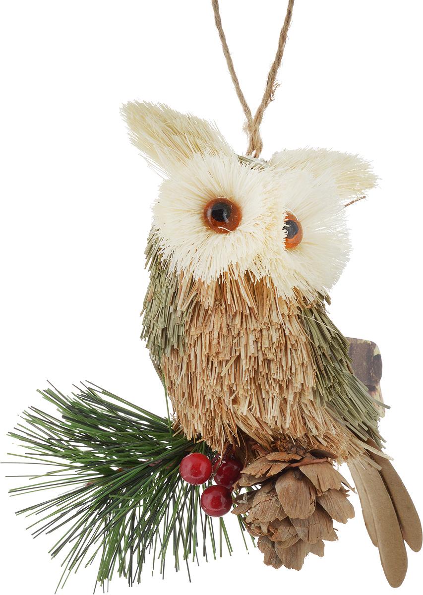 Игрушка елочная Совенок, 11 х 5 х 9 см. 270619270619Елочная игрушка, символ приближающегося праздника. Она послужит прекрасным подарком как для ребенка, так и для взрослого, а так же дополнит новогодний интерьер. Игрушка елочная Совенок, выполненная из высококачественного пенопласта и текстильных материалов, станет прекрасным украшением для вашего дома. Такая игрушка одинаково хорошо смотрится на елке, под елкой возле подарков, на полочке, столе или другом видном месте вашего дома или офиса.