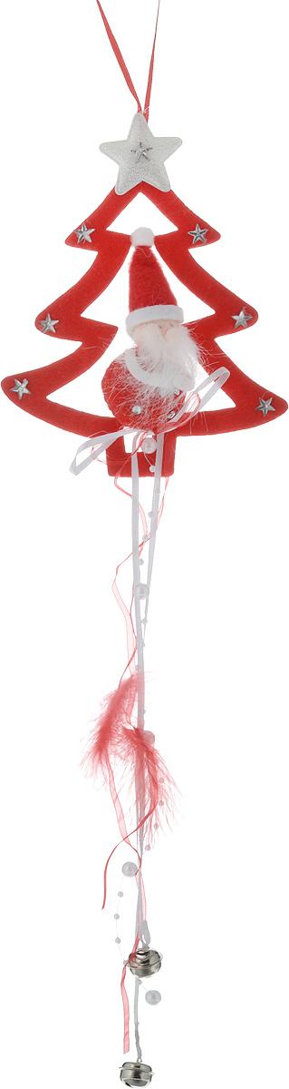 """Новогоднее украшение """"Дед Мороз"""" отлично подойдет для декорации вашего  дома и новогодней ели. Игрушка, выполненная из полиэстера в виде деда Мороза  и елки, украшена бусинами, стразами и колокольчиками. Украшение оснащено  специальной текстильной петелькой для подвешивания. Елочная игрушка - символ Нового года. Она несет в себе волшебство и красоту  праздника. Создайте в своем доме атмосферу веселья и радости, украшая всей  семьей новогоднюю елку нарядными игрушками, которые будут из года в год  накапливать теплоту воспоминаний."""