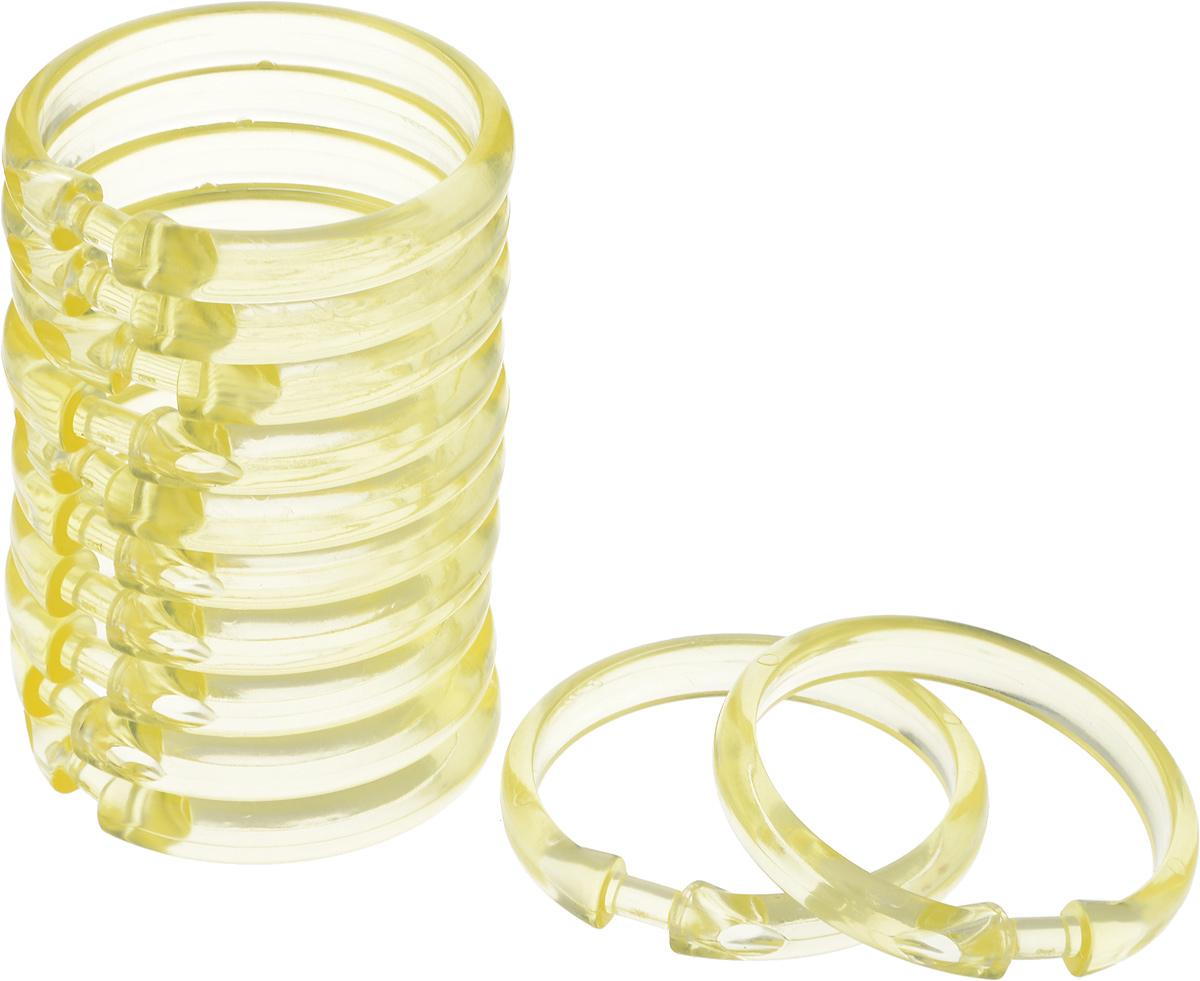Пластиковые кольца для занавесок имеют множество преимуществ. Они не подвержены коррозии и за ними, практически, не нужно ухаживать. Благодаря удобной click-системе кольца позволяют легко и быстро снимать и вешать штору без демонтажа карниза. В упаковке 12 колец.
