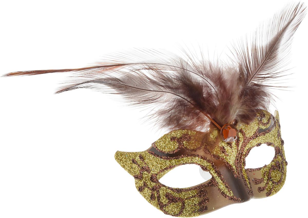 """Магнит """"Маска"""", выполненный из пластика в виде маски, украшен блестками и перьями.  Порадуйте родных и близких оригинальным сувениром: преподнесите в подарок магнит. С ним даже самый серьезный человек почувствует себя ребенком, ожидающим чудо! Прикрепите его к любой металлической поверхности, и он удержит на виду важные записки, любовные послания или просто список продуктов.  Создайте праздничное настроение, и оно останется с вами на весь год."""