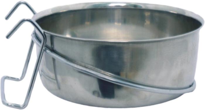 Миска для животных Уют, на крючках, 590 млАМК059Миска прочная и долговечная, походит как для корма так и для воды. Легко чистится и моется любым бытовым моющим средством под струей проточной воды.