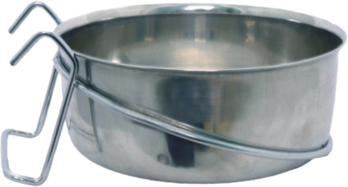 Миска для животных Уют, на крючках, 890 млАМК089Миска прочная и долговечная, походит как для корма так и для воды. Легко чистится и моется любым бытовым моющим средством под струей проточной воды.