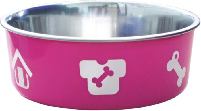 Миска для животных Уют, утяжеленная, цвет: розовый, 260 млАМц100Миска прочная и долговечная, походит как для корма так и для воды. Легко чистится и моется любым бытовым моющим средством под струей проточной воды. Нескользящая.