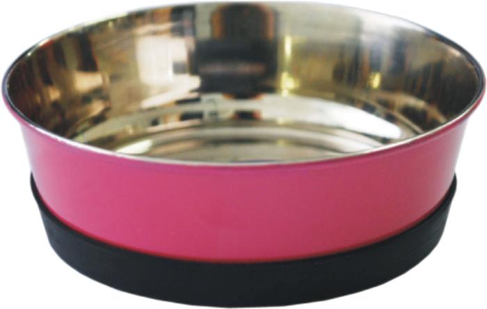 Миска для животных Уют, утяжеленная, цвет: розовый, 300 млАМц030Миска прочная и долговечная, походит как для корма так и для воды. Легко чистится и моется любым бытовым моющим средством под струей проточной воды. Нескользящая.