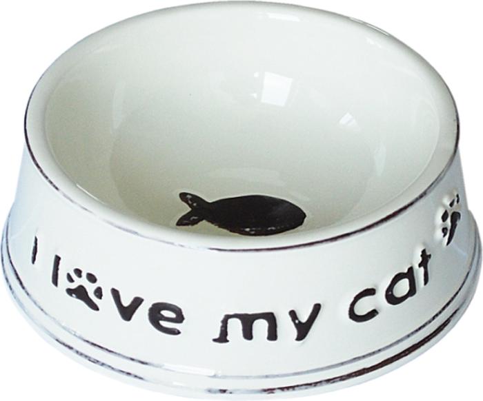Миска для животных №1 I Love My Cat, 12,5 х 12,5 х 5 см миска для кошек собак гамма n0