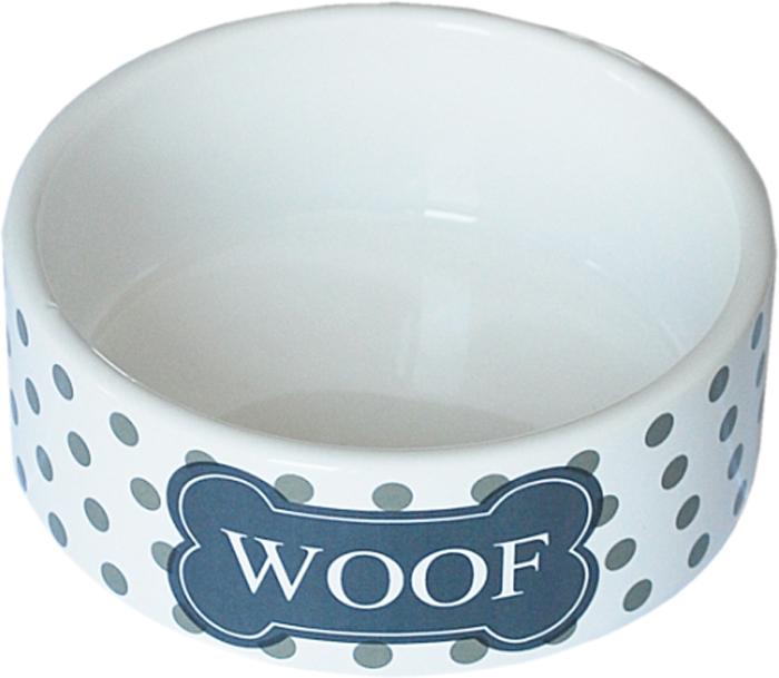 Миска для животных №1 Woof, цвет: белый, черный, 12,5 х 12,5 х 5 смМКР1221Керамическая миска для кошек. Проста в использовании, гигиенична и долговечна. Антибактериальные свойства. Не впитывает жир и запах. Нетоксична. Рассчитана на длительное активное использование.