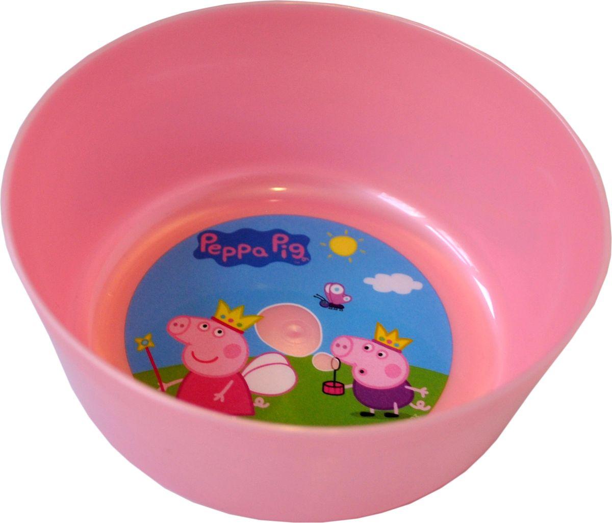 Little Angel Миска детская Свинка Пеппа цвет розовыйLA1058РЗ