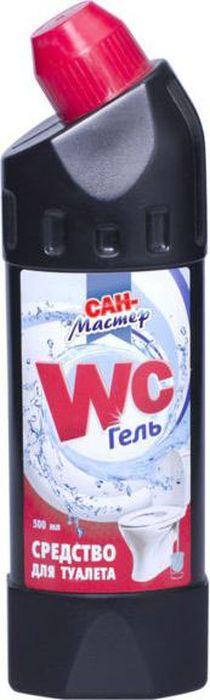 Средство для ванной и туалета Сан-Мастер, 500 мл4603720913863Максимально очищает, дезинфицирует, убивает 99,9% микробов, удаляет налет и ржавчину, устраняет неприятные запахи, оставляет свежий аромат.