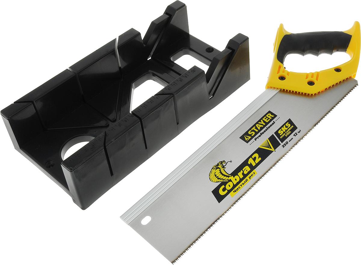 Набор инструментов Stayer Master, ножовка, стусло Maxi 4, цвет: желтый, черный15395-35_желтый, черныйНабор инструментов Stayer Master идеален для точного и аккуратного пиления под углом. Желательно использовать заготовки среднего и малого размера, из: дерева, ДСП, а так же пластмассы. Стусло выполнено специально из ABS-пластика, что дает гарантию защиты стусла от истирания во время работ. Стусло оснащено специальным выступом и отверстием для крепежа заготовки на рабочей поверхности - это обеспечивает максимально точный и аккуратный распил заготовки.Материалом изготовления полотна пилы в наборе является инструментальная сталь, для защиты полотна от изломов, а так же появления коррозии, а термообработанные зубья полотна подвергнуты острой заточке и закалены - все это гарантирует предельно долгий срок службы данной ножовки.Двухкомпонентная рукоятка пилы, выполнена из ударопрочного пластика для защиты рукоятки от получения различного рода повреждений, оснащена специальными резиновыми накладками, благодаря чему рукоятка удобно обхватывается рукой, предотвращая соскальзывание руки - этим делая работу с данной ножовкой очень комфортной и надежной. Для безопасного и удобного хранения на полотне ножовки предусмотрено специальное отверстие для подвески.Технические характеристики пластикового стусла Stayer Maxi 4:Материал изготовления стусла: ABS-пластик.Углы распила в вертикальной плоскости: 45 градусов.Углы распила в горизонтальной плоскости: 45; 90 градусов.Максимальная длина заготовок: 100 мм.Максимальная ширина заготовок: 52 мм.Материал изготовления полотна: инструментальная сталь.Рукоятка: двухкомпонентная (резина + пластик).Зубья: мелкие, закаленные, остро заточены.Шаг зубьев: 12 TPI (2мм).Длина пилы: 350 мм.Особенности: на полотне отверстие для подвески.