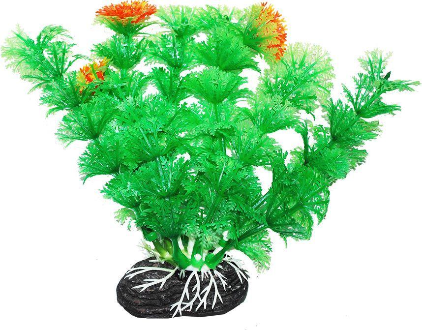 Растение для аквариума Уют Амбулия зеленая с оранжевым, высота 11 смВК208Пластиковое растение для аквариума УЮТ - отличный аксессуар, который украсит ваш домашний аквариум. Изготовлено из искусственных и полимерных материалов. Безопасно для рыб и других аквариумных обитателей.