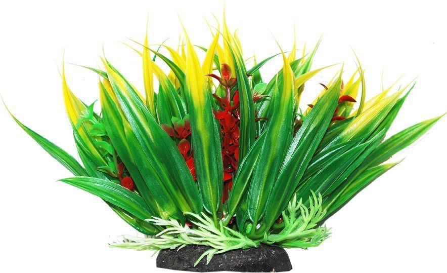 Растение для аквариума Уют Осот зелено-желтый, высота 12 см уют