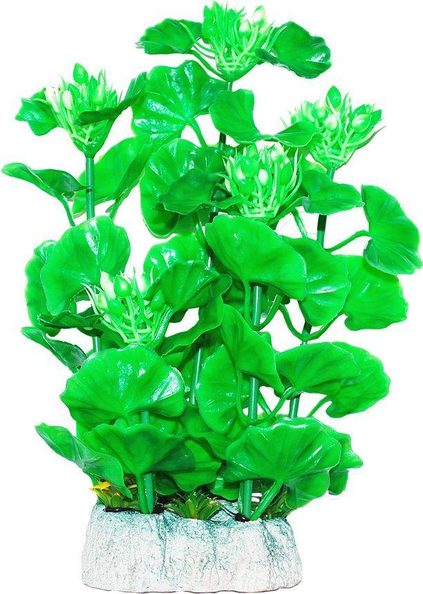 Растение для аквариума Уют Хедизариум зеленый с бутонами, высота 24 см уют