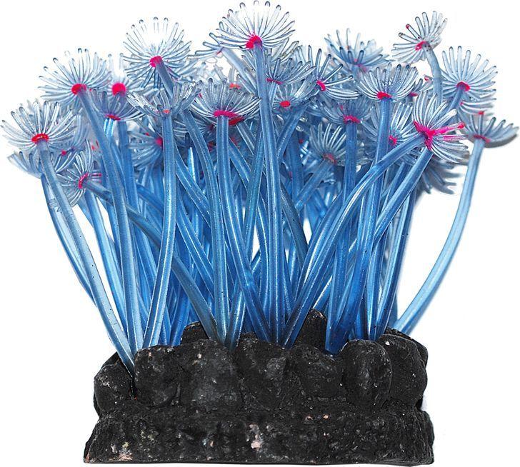 Коралл для аквариума Уют Актиния Карибская колония голубая, силиконовый, высота 10 смВК702Декоративный коралл УЮТ отличный аксессуар, который украсит ваш домашний аквариум. Коралл не наносит вред обитателям аквариума. Изготовлено из искусственных и полимерных материалов.