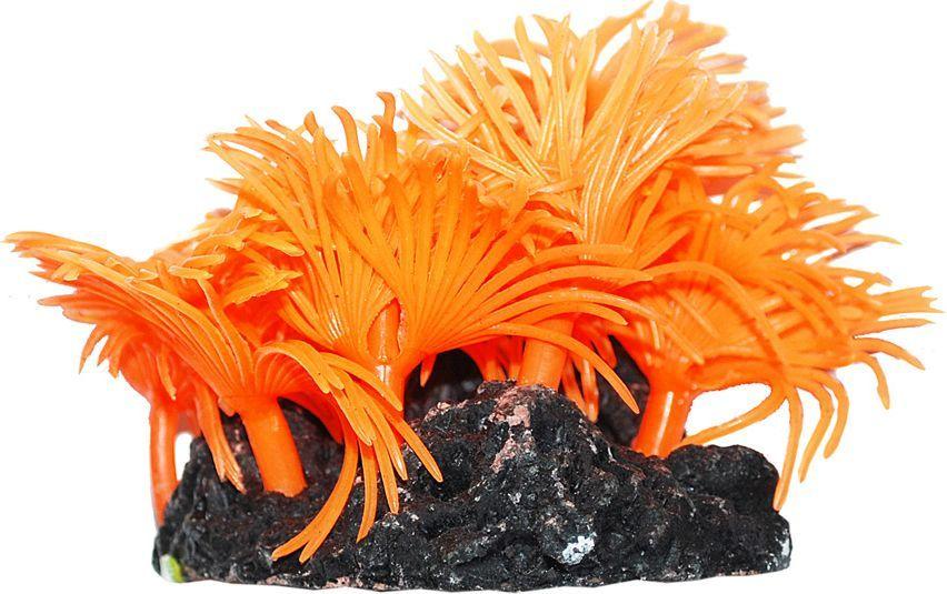 Коралл для аквариума Уют Актинии солнечные оранжевые, силиконовый, высота 10 см 100w 220v shower booster water pump