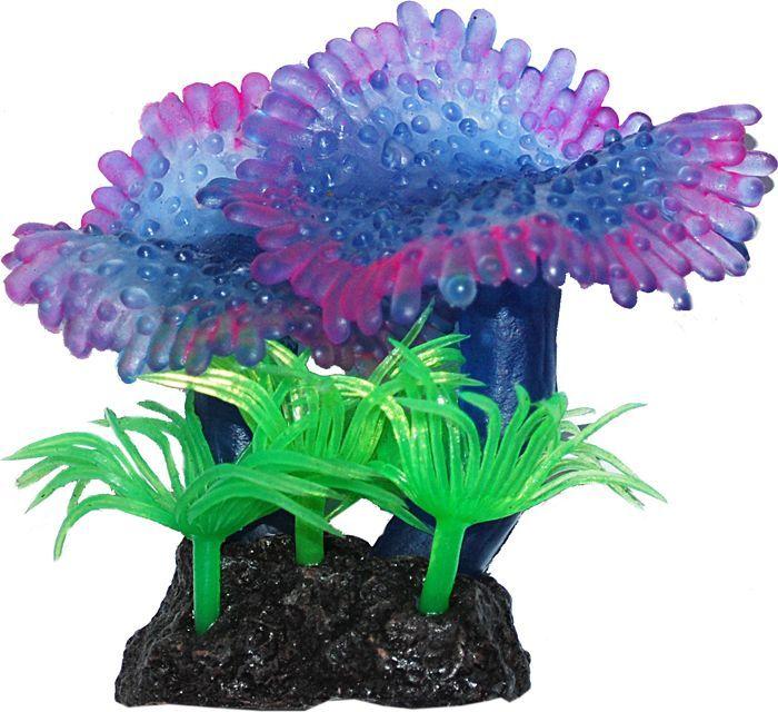 Коралл для аквариума Уют Актиния ковровая синяя, силиконовый, высота 8 см набор бокалов для бренди коралл 40600 q8105 400 анжела