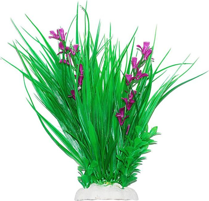 Растение для аквариума Уют Композиция с лиловыми цветами, высота 22-24 см
