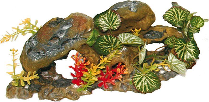 Грот для аквариума №1 Круглые камни с растениямиЕГ019Грот №1 отличный аксессуар, который украсит ваш домашний аквариум.Декорация не наносит вред обитателям аквариума. Изготовлено из искусственных и полимерных материалов