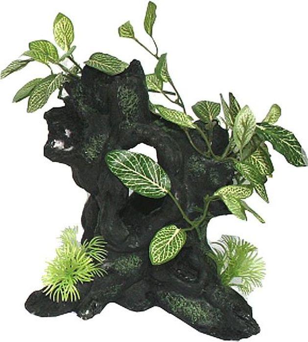 Грот для аквариума №1 Корневища с растениямиЕГ023Грот №1 отличный аксессуар, который украсит ваш домашний аквариум.Декорация не наносит вред обитателям аквариума. Изготовлено из искусственных и полимерных материалов