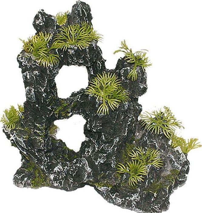 Грот для аквариума №1 Руины с растением