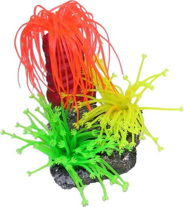 Коралл для аквариума №1 Пальмы, 10 х 8,5 х 14 смЕК146В/1Декоративный коралл №1 отличный аксессуар, который украсит ваш домашний аквариум.Коралл не наносит вред обитателям аквариума. Изготовлено из искусственных и полимерных материалов
