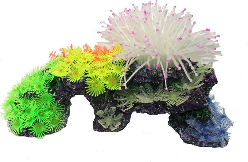 Коралл для аквариума №1 Цветочная дорожка, 27 х 10 х 17 смЕК260С/1Декоративный коралл №1 отличный аксессуар, который украсит ваш домашний аквариум. Коралл не наносит вред обитателям аквариума. Изготовлено из искусственных и полимерных материалов.